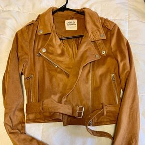 Faux Suede Moto Jacket from Buckle - S